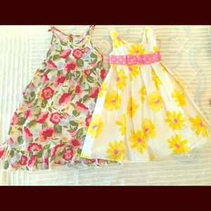 Two Spring Flower Dresses 2T